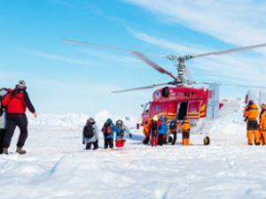 Antartika'da mahsur kalan gemiye ulaşıldı
