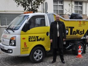 Balıkesir'de 'çöp taksi' hizmeti