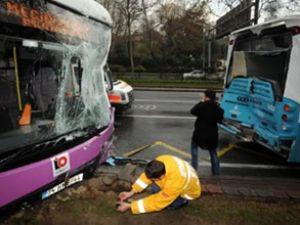 Beşiktaş'ta halk otobüsü kazası