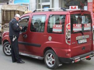 Bafra'da ticari araçlara ceza