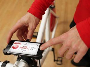 Kopenhag adlı bisiklet ile telefon şarjı