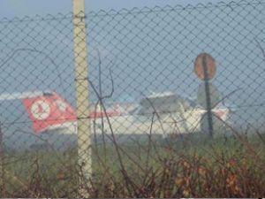 Çorlu'da eğitim uçuşlarına sis engeli