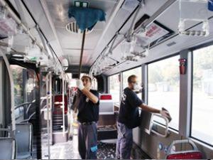 İETT otobüslerine her gün dezenfekte
