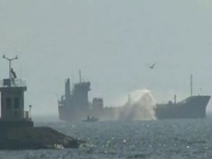 M/T TIBIL isimli tanker Pendik'te yandı