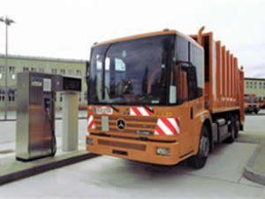 CNG kamyonlar, organik atık ile çalışıyor