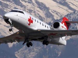 Romanya'da ambulans uçak düştü