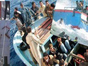 Ege'de göçmenleri taşıyan bot battı: 5 ölü