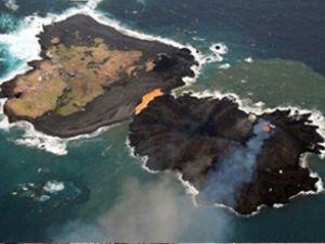 Japonya'da sonradan oluşan ada büyüyor
