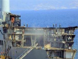 Kraliyet Donanması İzmir'de parça aradı