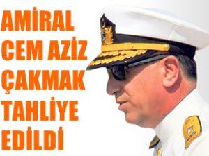Amiral Cem Aziz Çakmak tahliye edildi
