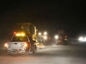 Tipi nedeniyle 30 araç yolda mahsur kaldı