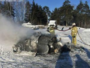 Sibirya'da Mi-2 tipi bir helikopter düştü