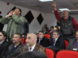 Bakan Cevdet Yılmaz'a nükleer protestosu