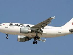 Saga Havayolları uçağı icradan satılıyor