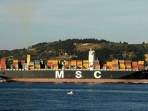 MSC Taranto, Çanakkale Boğazı'ndan geçti