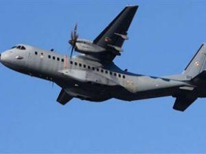 Cezayirde askeri nakliye uçağı düştü
