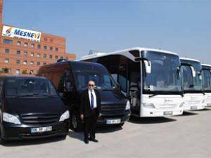 Mesnevi Turizm'den 600 araçla hizmet