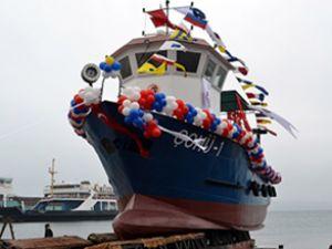ÇÖMÜ-1 gemisi Gelibolu'da denize indirildi