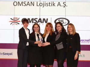 """Omsan'a ikinci kez """"İnsana Saygı Ödülü'"""