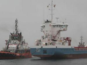 Marmara Denizi'nde iki gemi çatıştı