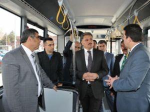 Malatya'da doğalgazlı otobüs test ediliyor