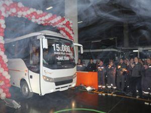 Otokar 15 bininci Sultan otobüsünü üretti