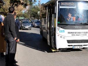 Erzurum'da 65 yaş üzerine ulaşım bedava