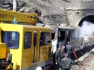 Bilecik'te 'lokomotif' yangını