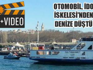 Otomobil, İDO İskelesi'nden denize düştü