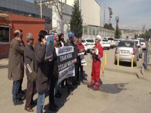 Tuzla'da kazada ölen işçi için basın açıklaması