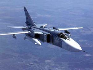 Ukrayna'da askeri uçak iniş yaparken düştü
