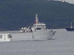 Çanakkale Boğazı'ndan savaş gemisi geçti