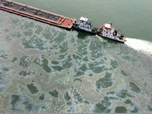 Gemi kazası Houston Kanalı'nı siyaha boyadı