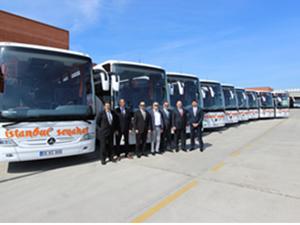 Mercedes'ten İstanbul Seyahat'e 9 otobüs