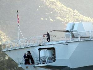 Aksaz'da demirli askeri gemide patlama meydana geldi