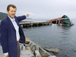 Erdek'te batan PASHA isimli geminin kaldırılması bekleniyor