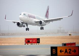 Hamad Havalimanı'na ilk uçak indi