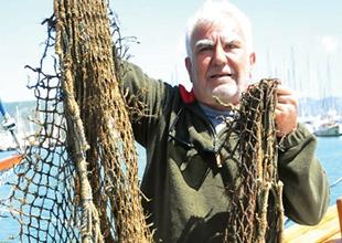 Bodrum'da deniz dibinde 'eski ağ' temizliği yapıldı