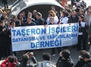 Taşeron Karayolları işçileri taleplerini dile getirdi