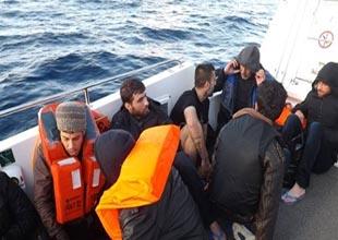 Ege Denizi'nde 108 kaçak göçmen yakalandı
