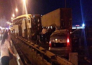 TEM Otoyolu'nda trafik kazası meydana geldi