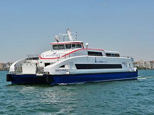 İzmir'in yeni yolcu gemisi Dokuz Eylül deneme seferlerine başladı