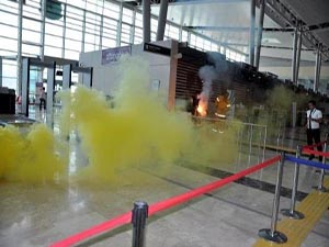 Elazığ Havalimanı'nda yangın tatbikatı