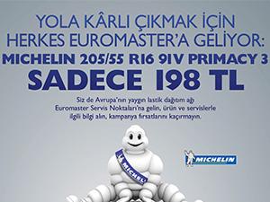 Euromaster'den Michelin lastiklerde indirim