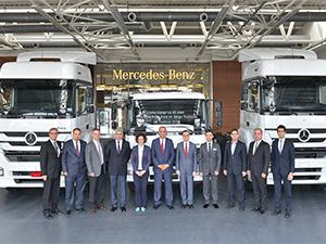 Aras Kargo, Mercedes-Benz'den 45 adet Axor ve Atego'yu teslim aldı