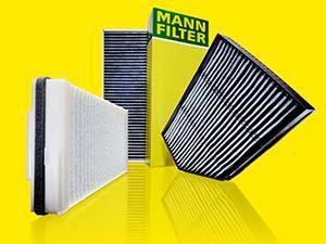 MANN-FILTER'in kabin filtreleri polenden koruyor