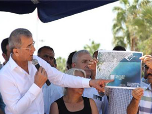 Mezitli'de 'balıkçı barınağı' projesine tepki gösterildi