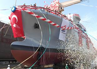 'TCG IŞIN' gemisi denize indirildi