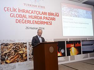 2012'de 34 milyon çelik için 32 milyon hurda kullanıldı