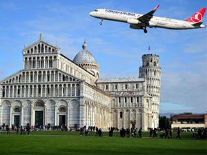 THY, kulesiyle ünlü Pisa'ya da uçacak